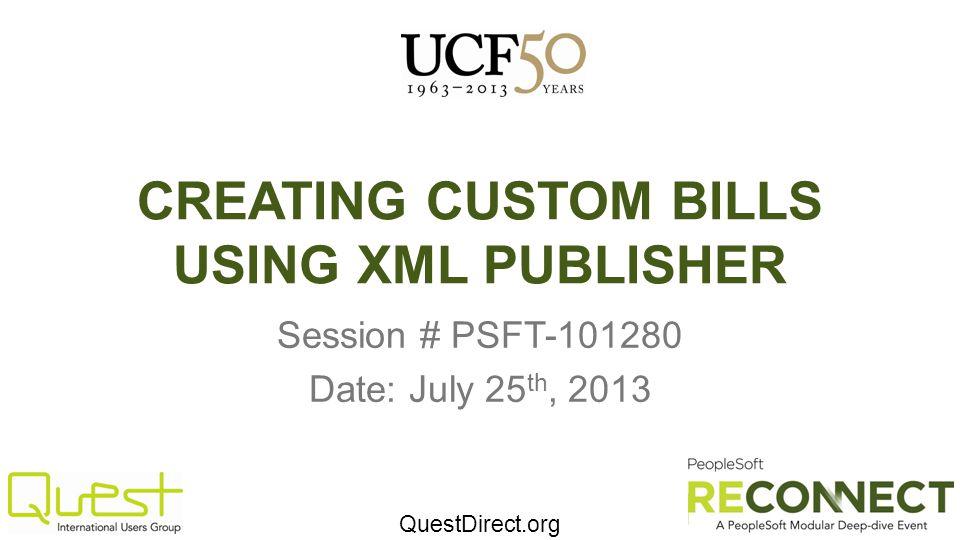 CREATING CUSTOM BILLS USING XML PUBLISHER