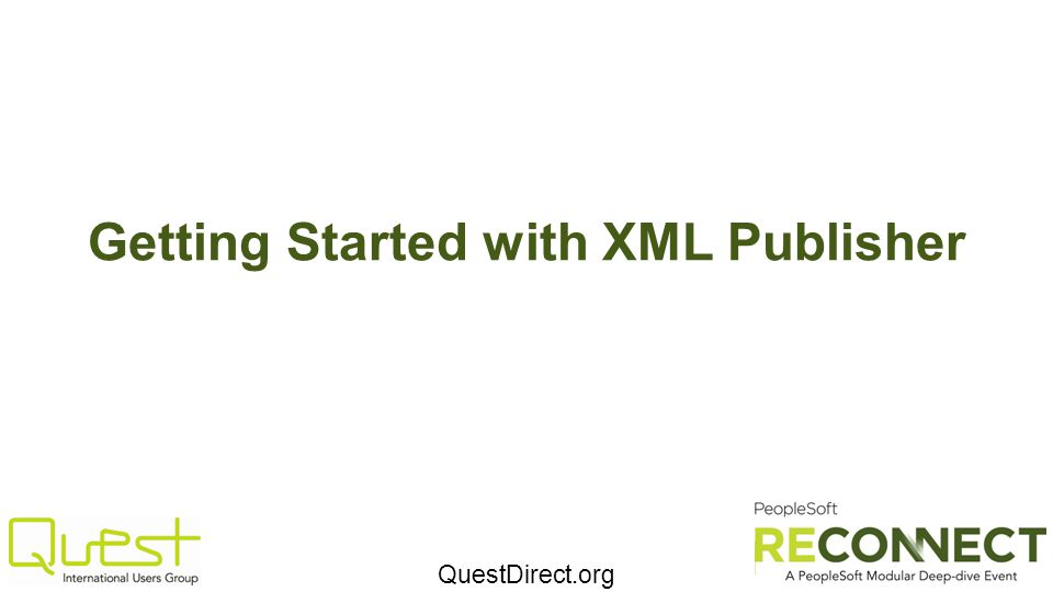Getting Started with XML Publisher