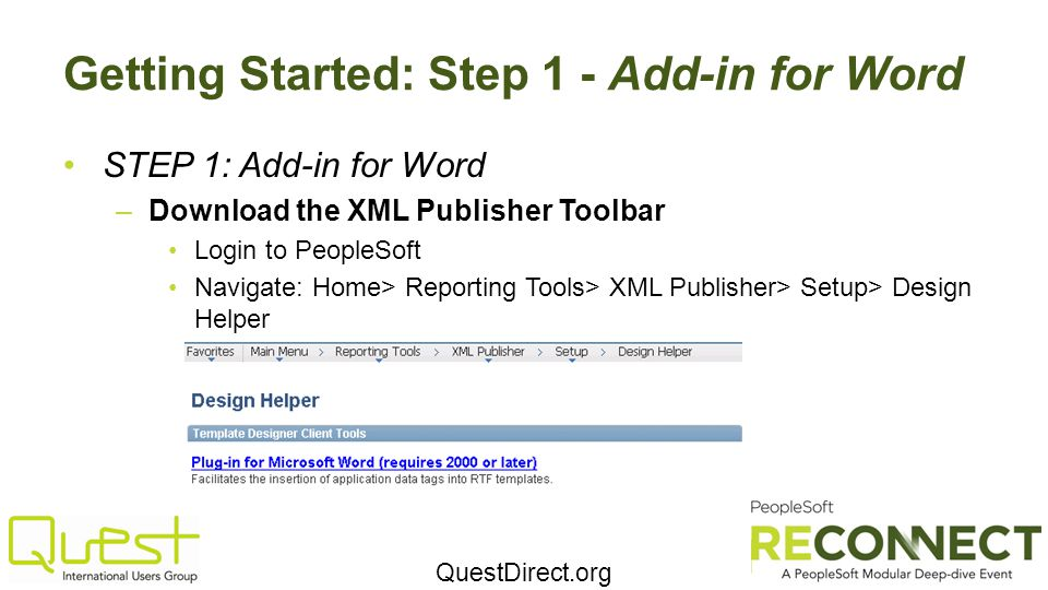 Getting Started: Step 1 - Add-in for Word