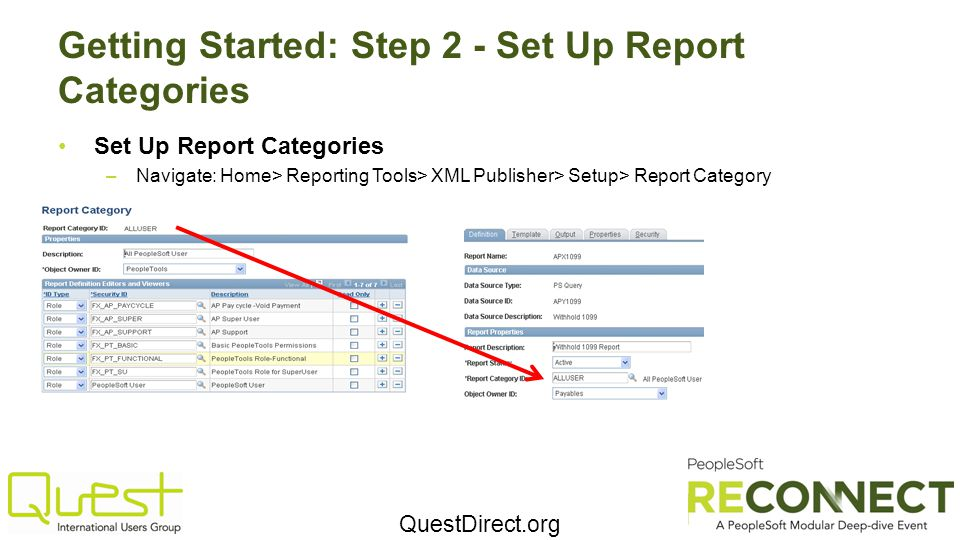 Getting Started: Step 2 - Set Up Report Categories