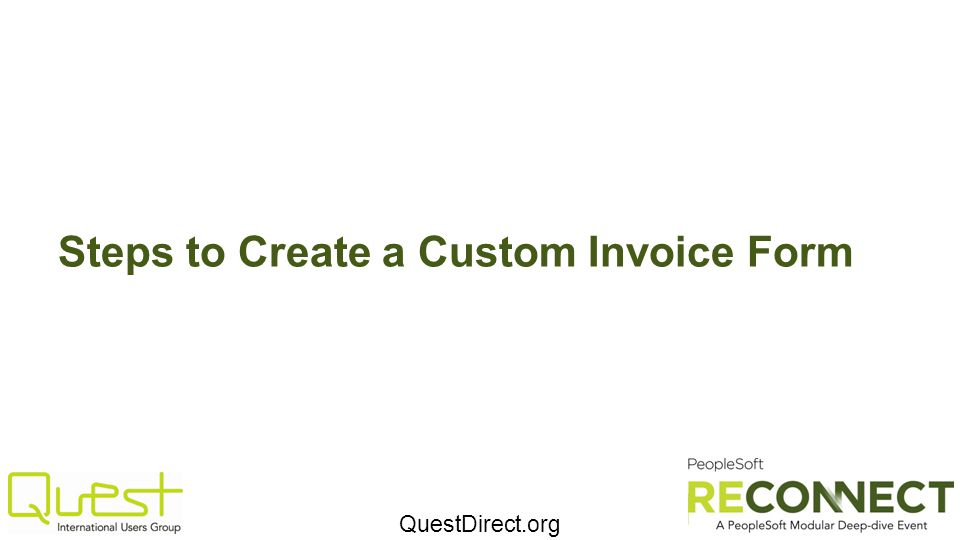 Steps to Create a Custom Invoice Form