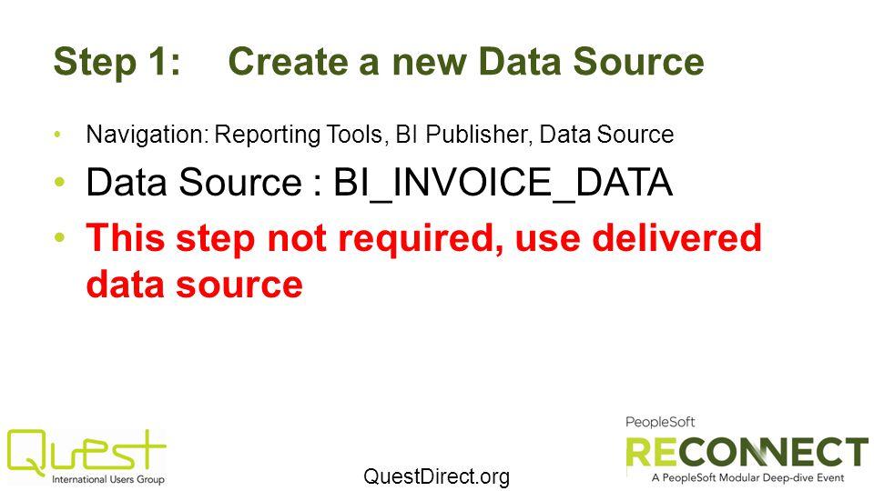 Step 1: Create a new Data Source
