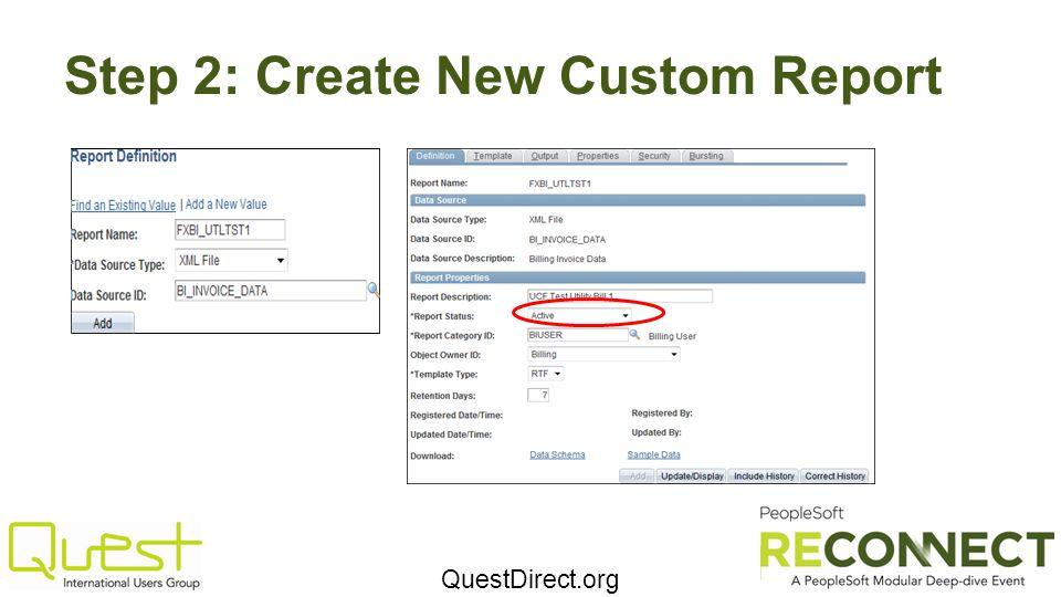 Step 2: Create New Custom Report