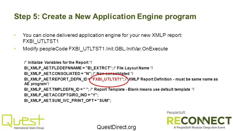 Step 5: Create a New Application Engine program