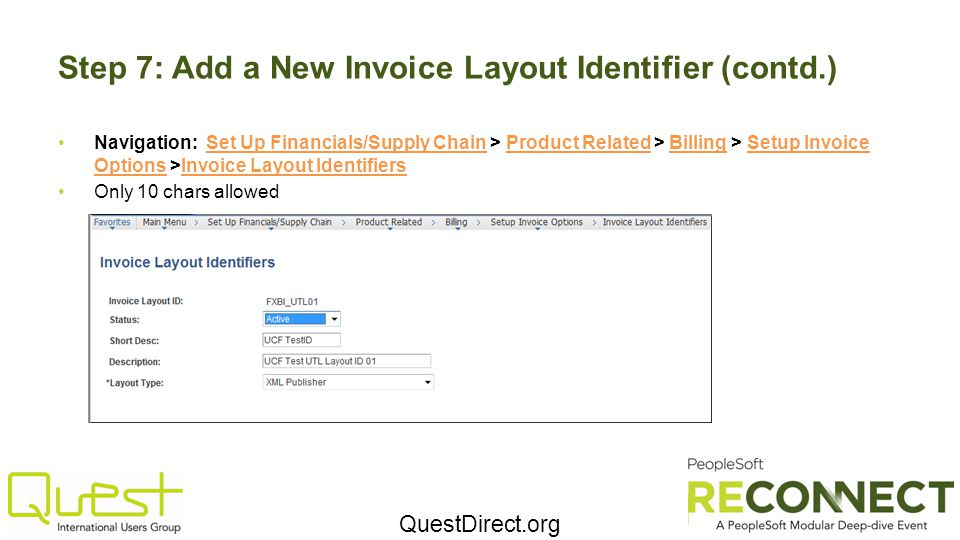 Step 7: Add a New Invoice Layout Identifier (contd.)