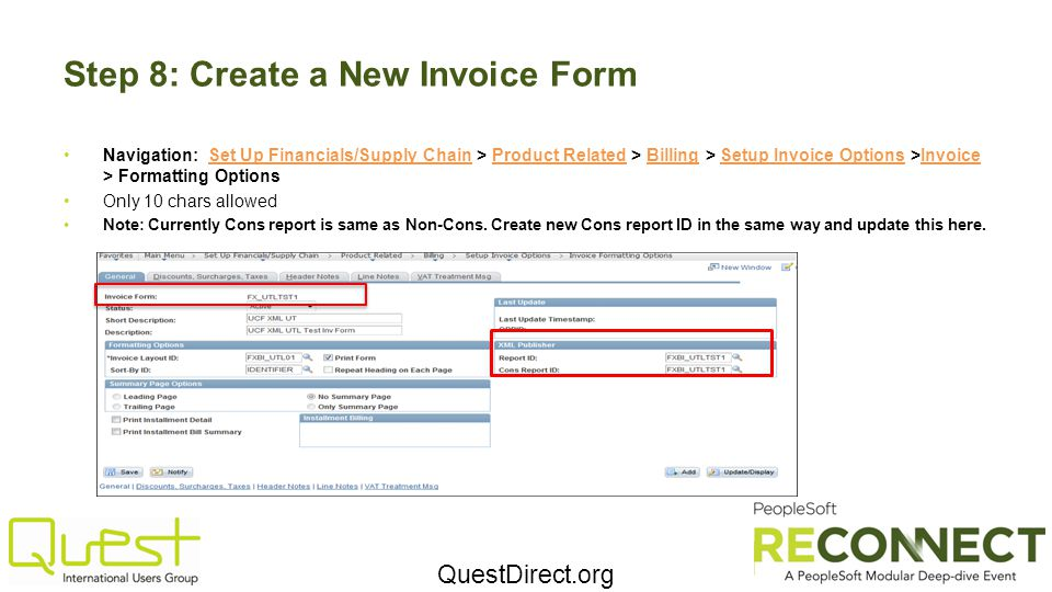 Step 8: Create a New Invoice Form