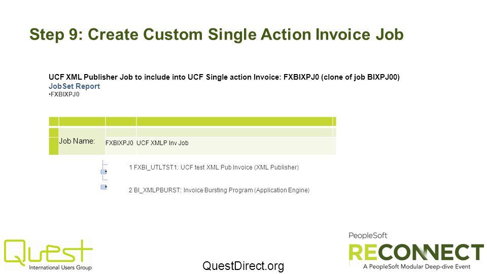 Step 9: Create Custom Single Action Invoice Job