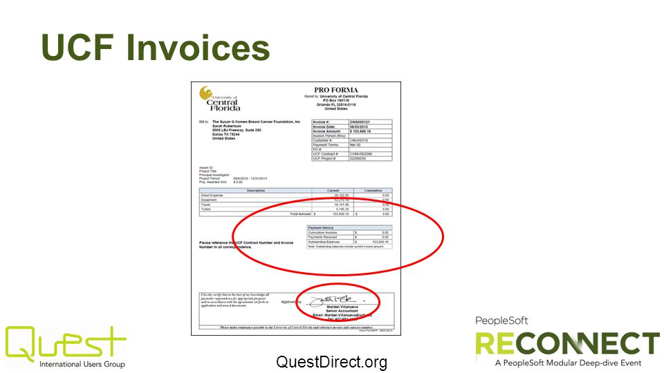 UCF Invoices
