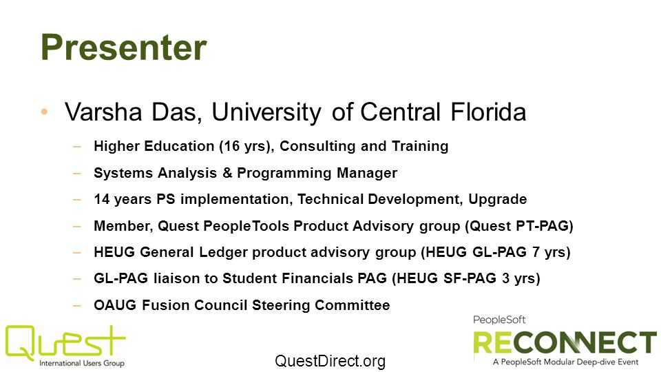 Presenter Varsha Das, University of Central Florida