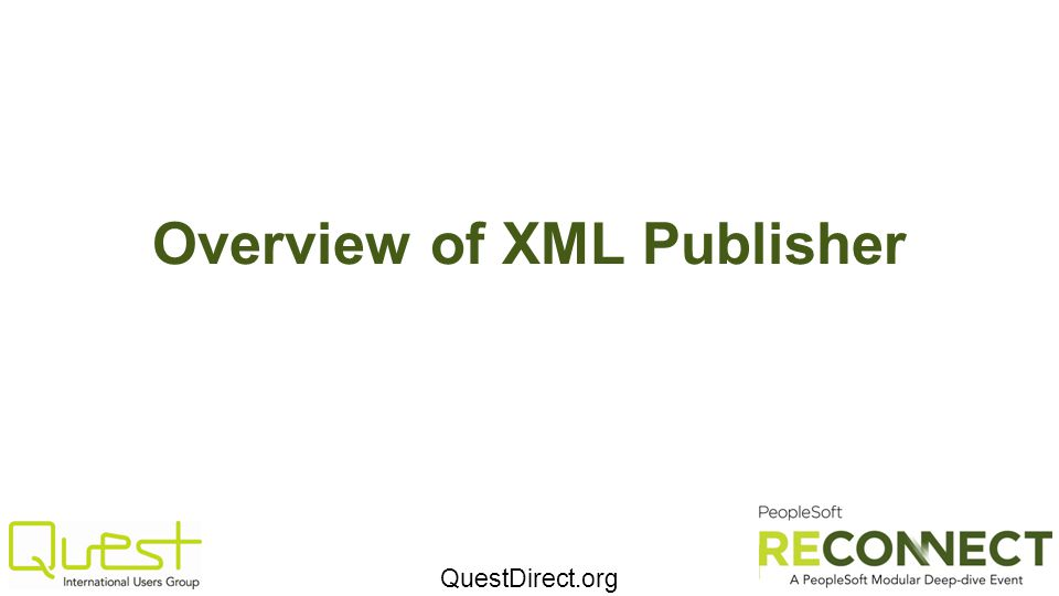 Overview of XML Publisher
