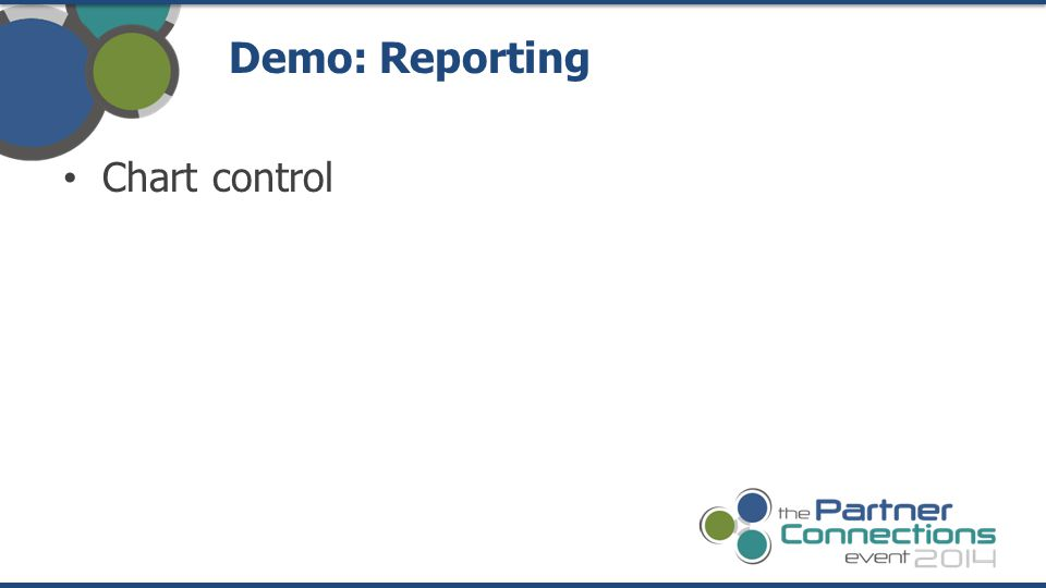 Demo: Reporting Chart control
