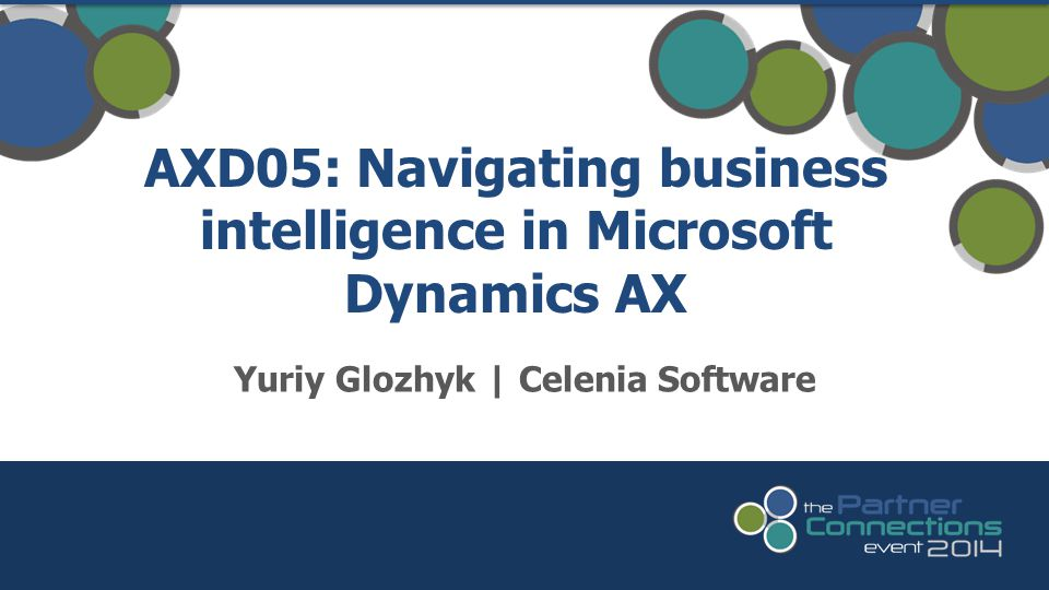AXD05: Navigating business intelligence in Microsoft Dynamics AX