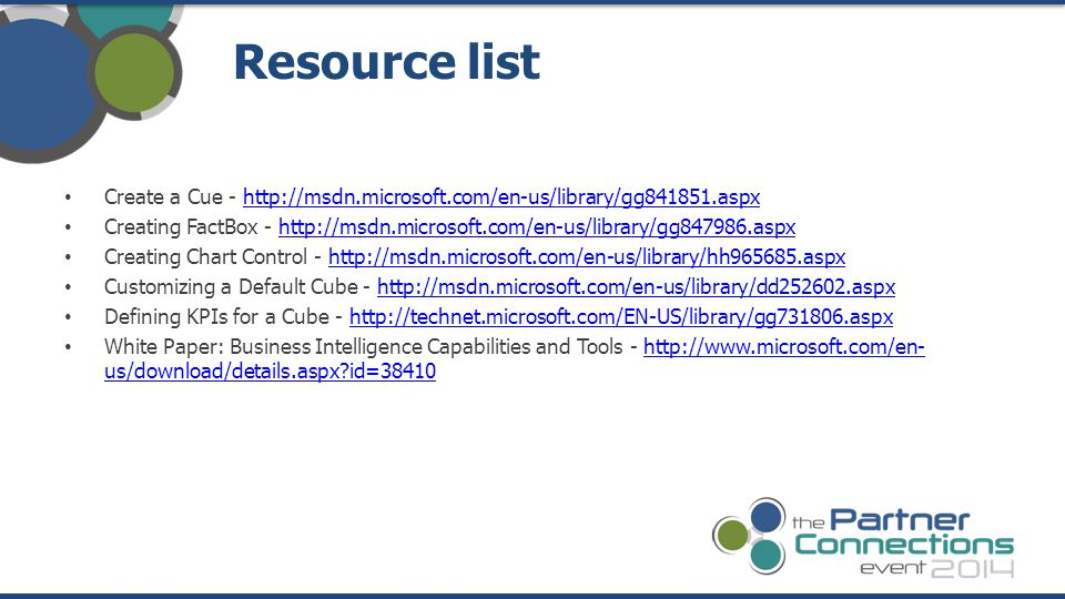 Resource list Create a Cue - http://msdn.microsoft.com/en-us/library/gg841851.aspx.