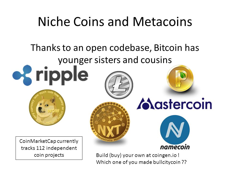 Niche Coins and Metacoins