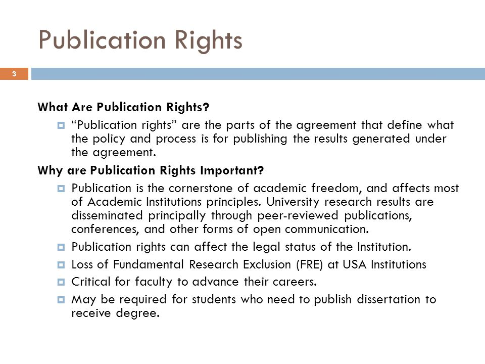 Publication Rights What Are Publication Rights