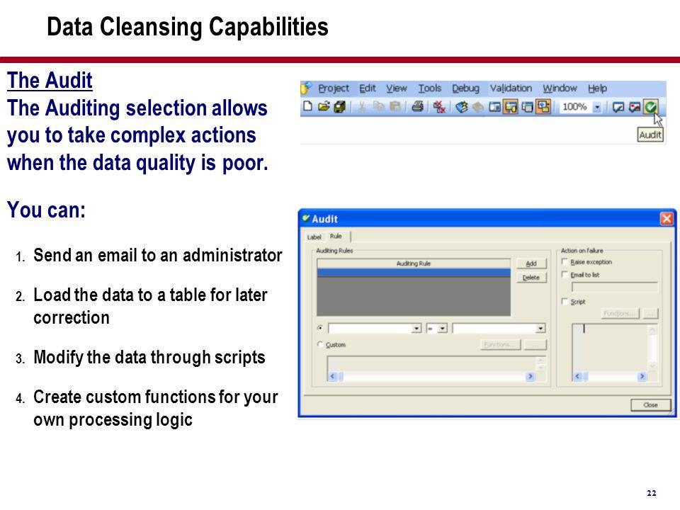 Data Cleansing Capabilities