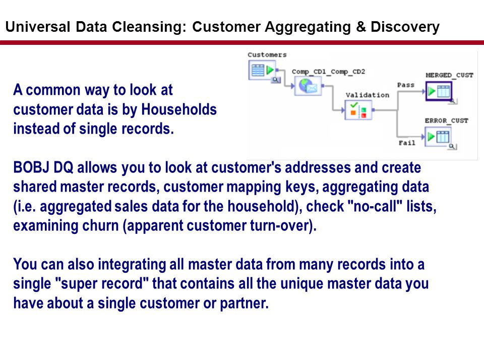 customer data is by Households instead of single records.