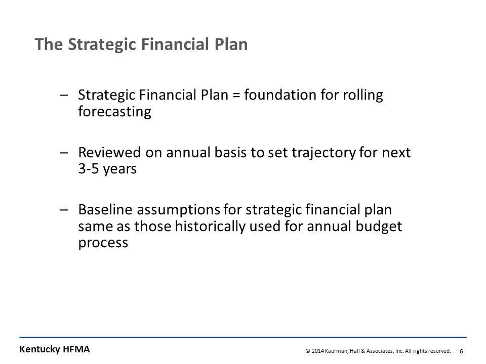 The Strategic Financial Plan