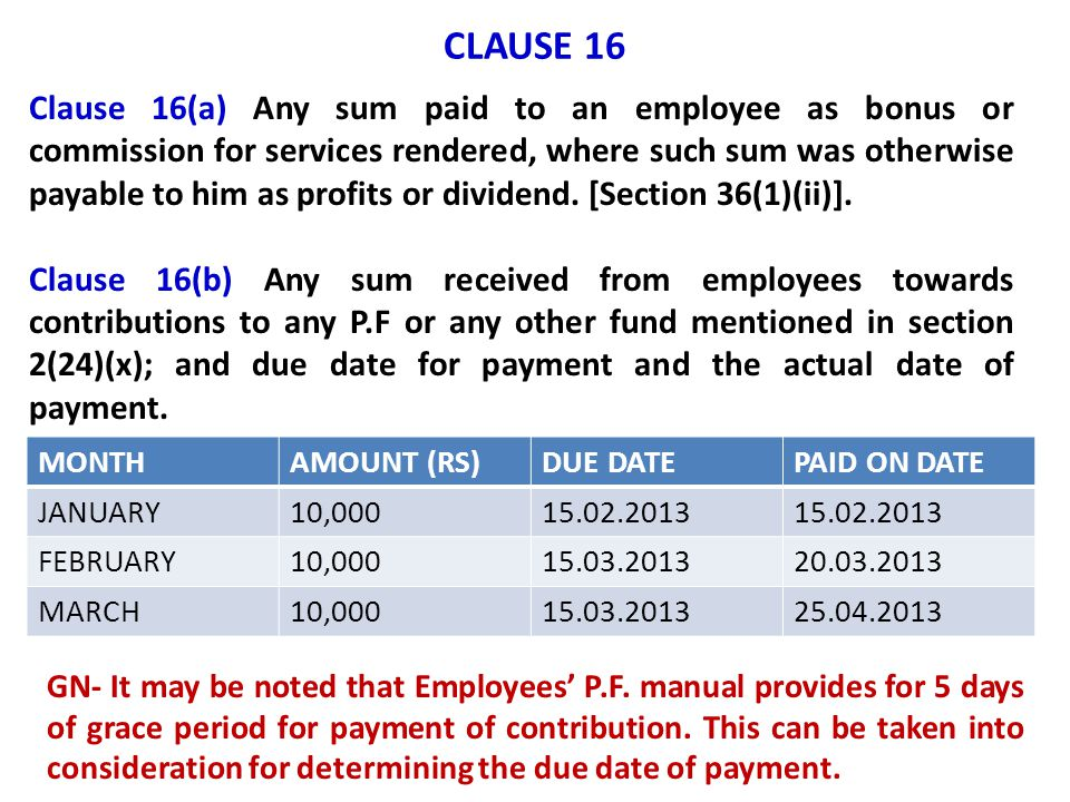 CLAUSE 16