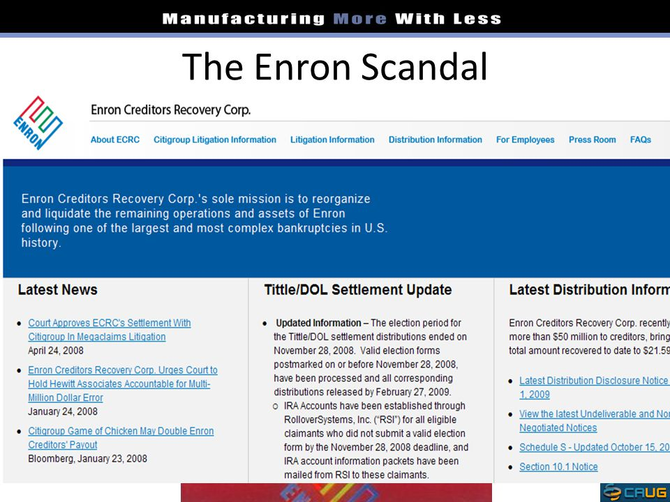The Enron Scandal