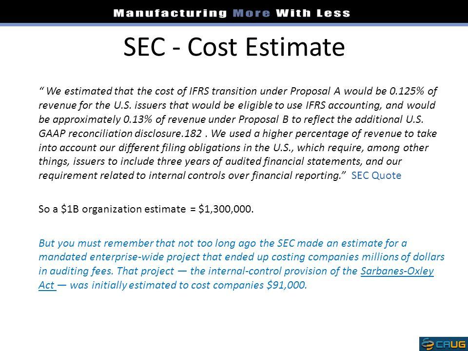 SEC - Cost Estimate