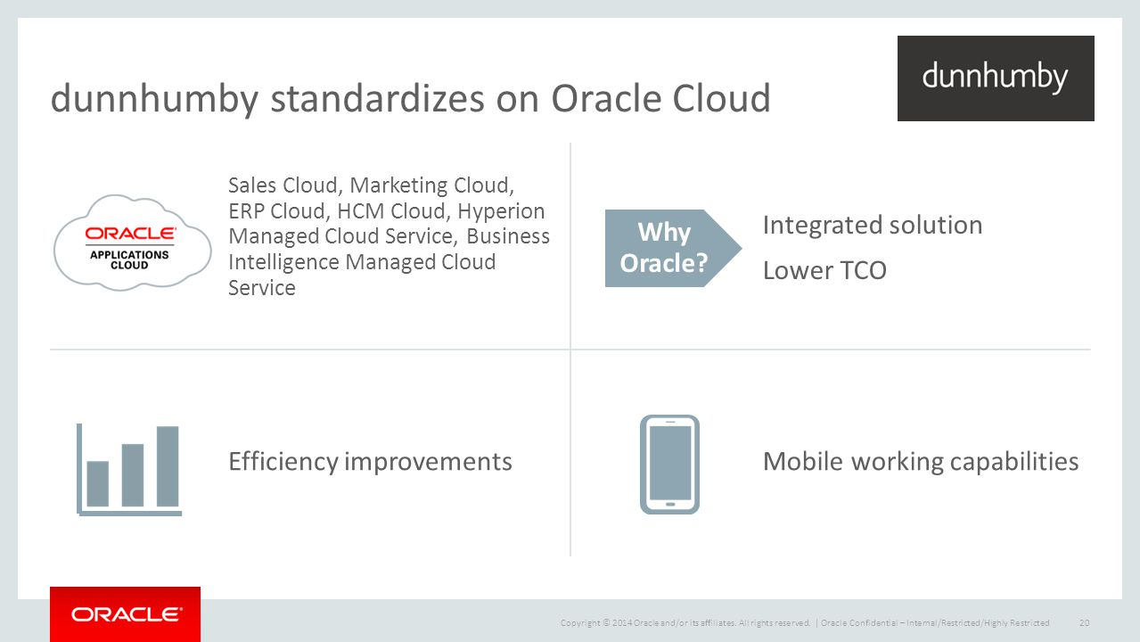 dunnhumby standardizes on Oracle Cloud
