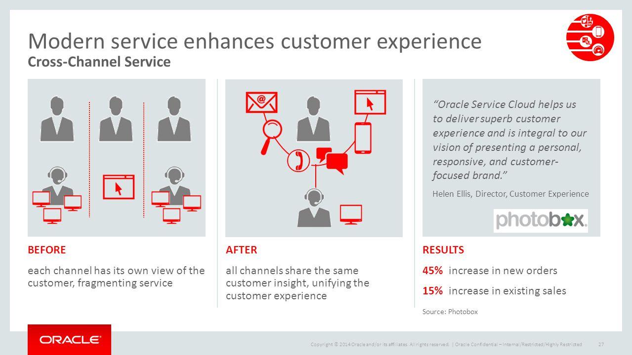 Modern service enhances customer experience