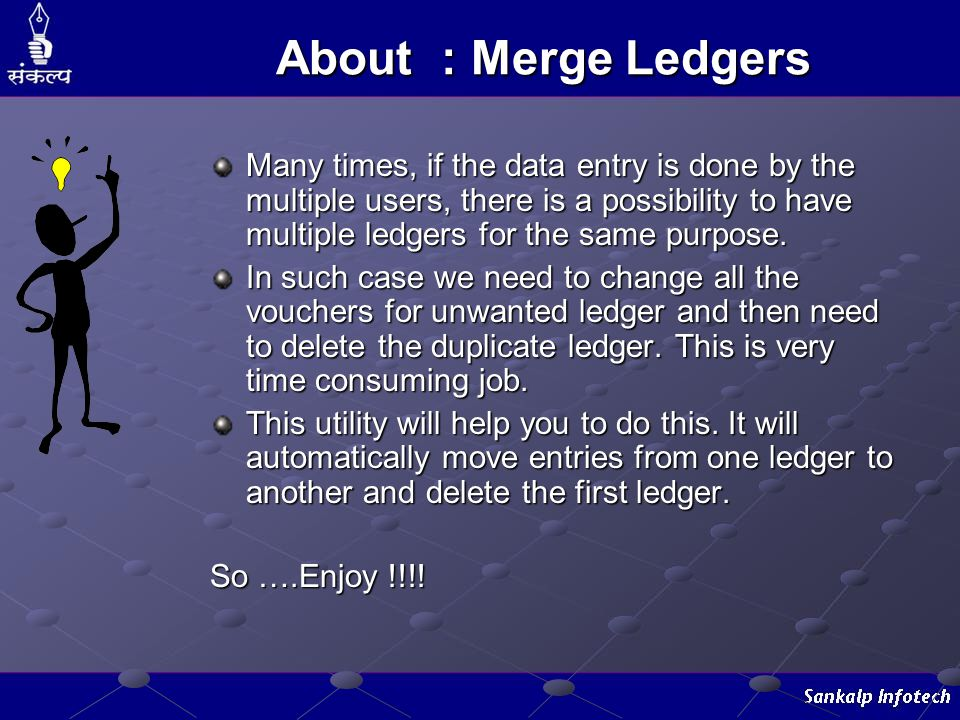 About : Merge Ledgers