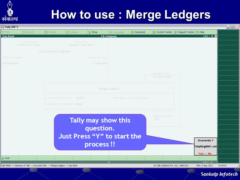 How to use : Merge Ledgers