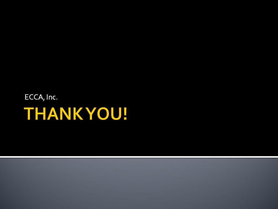 ECCA, Inc. THANK YOU!