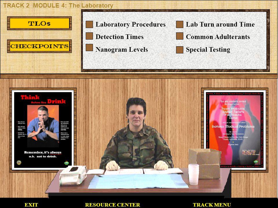 Laboratory Procedures Detection Times Nanogram Levels