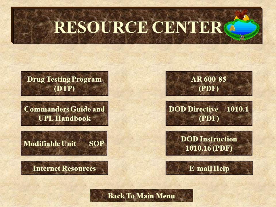 Drug Testing Program (DTP) Commanders Guide and UPL Handbook