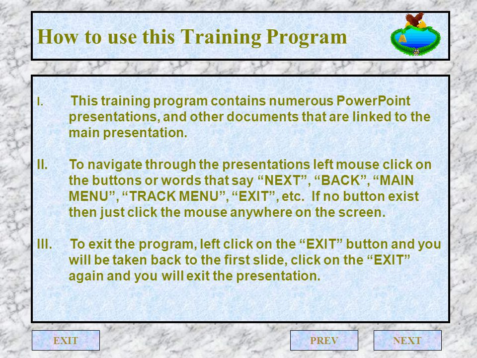 How to use this Training Program