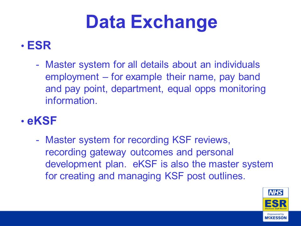 Data Exchange ESR.