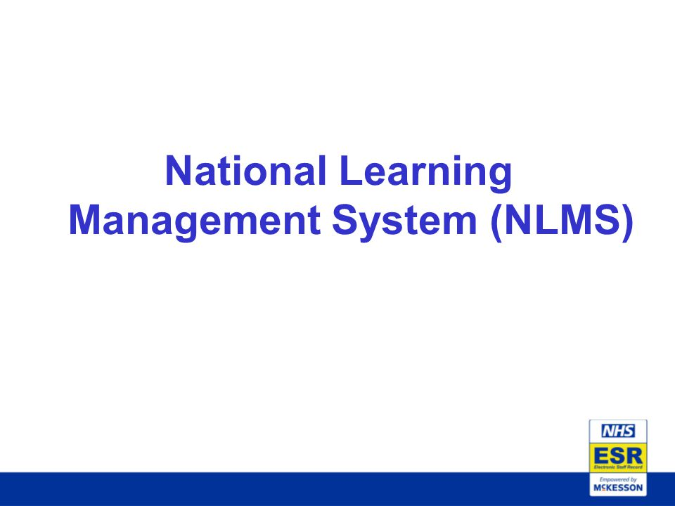 National Learning Management System (NLMS)