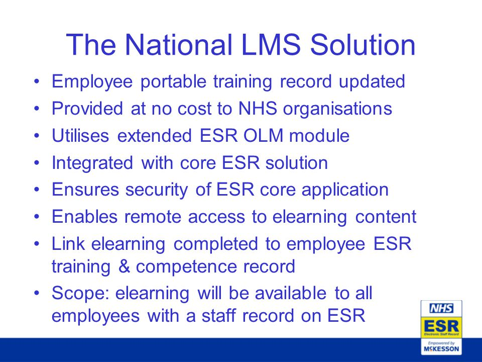The National LMS Solution