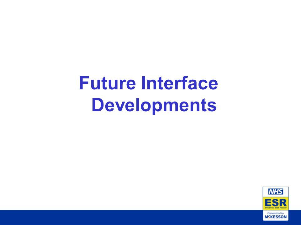 Future Interface Developments