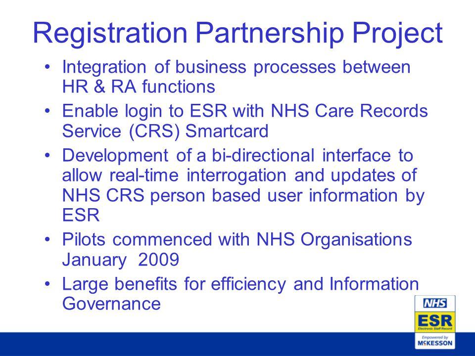 Registration Partnership Project