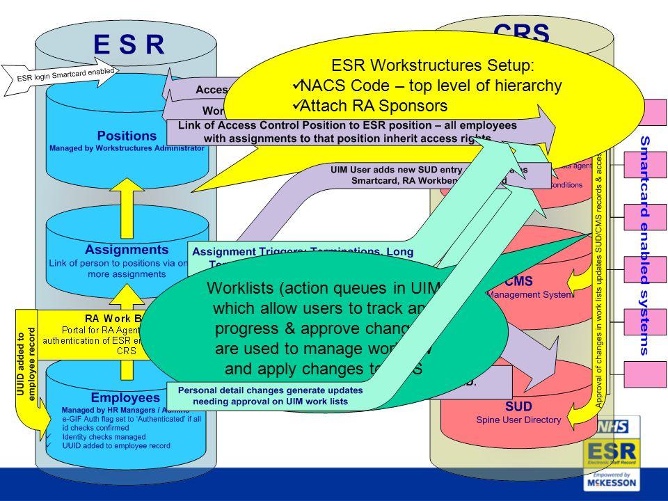 ESR Workstructures Setup: