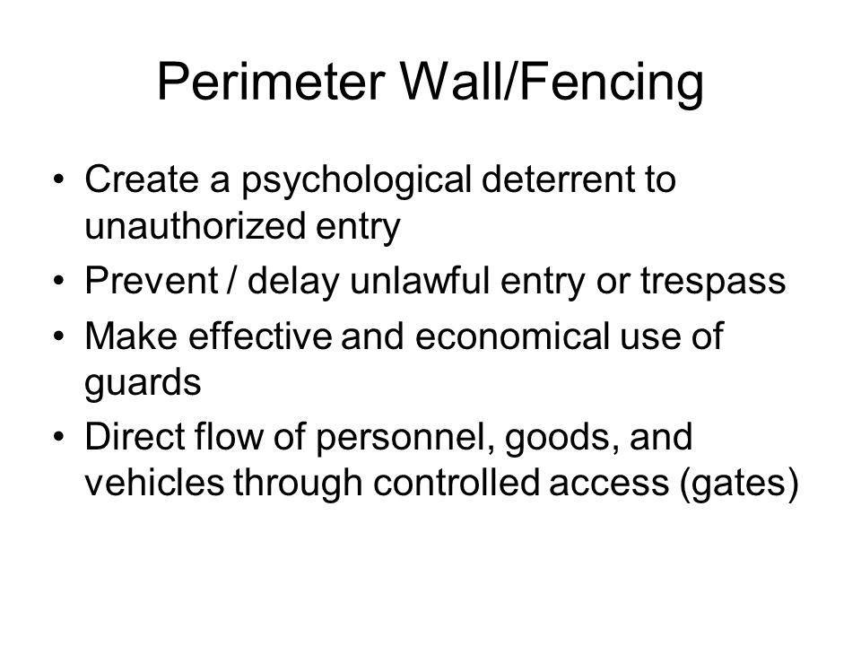 Perimeter Wall/Fencing
