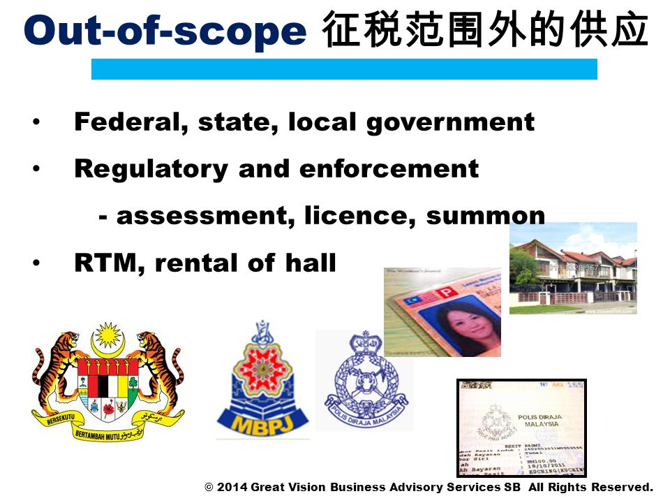 Out-of-scope 征税范围外的供应