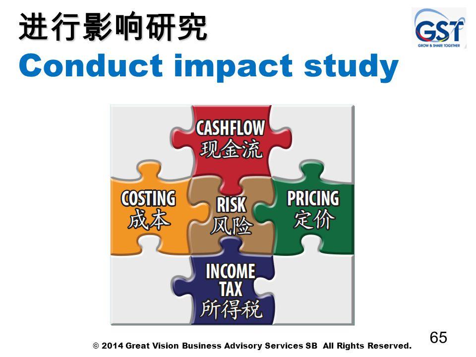 进行影响研究 Conduct impact study