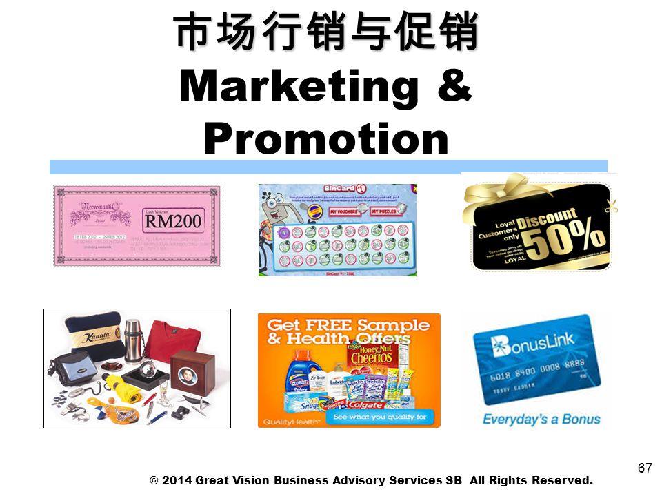 市场行销与促销 Marketing & Promotion
