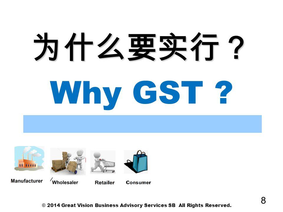 为什么要实行? Why GST © 2014 Great Vision Business Advisory Services SB All Rights Reserved.