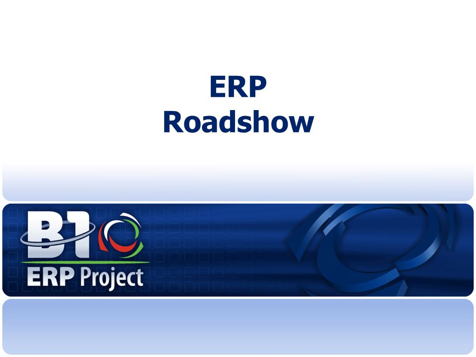 ERP Roadshow