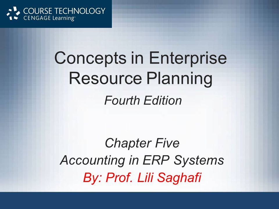 Concepts in Enterprise Resource Planning Fourth Edition