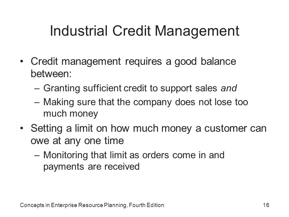 Industrial Credit Management
