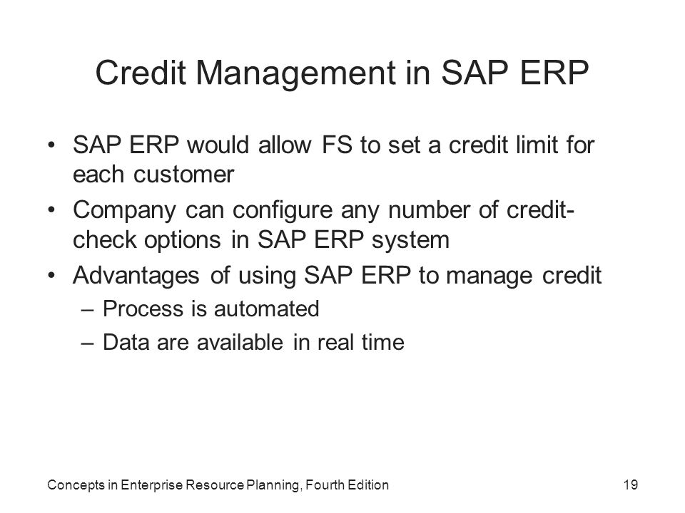 Credit Management in SAP ERP