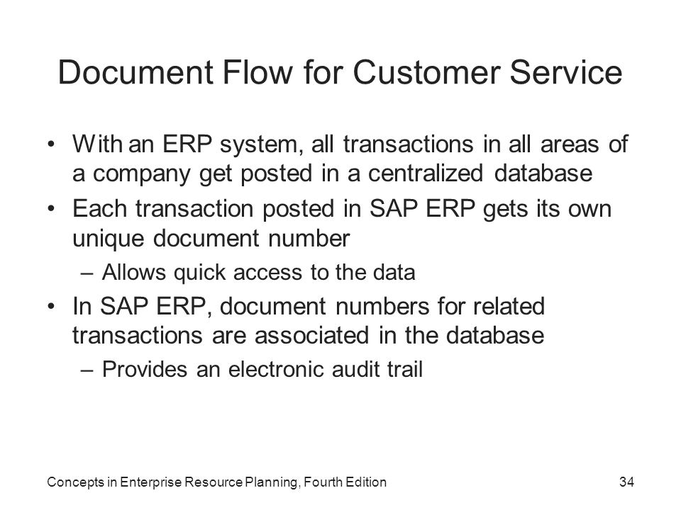 Document Flow for Customer Service