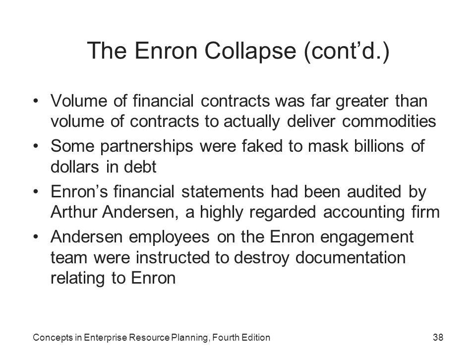 The Enron Collapse (cont'd.)